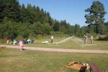 Der Pavillon wird abgebaut
