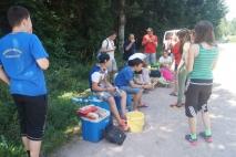 Die letzte Mahlzeit im Zeltlager